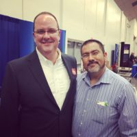 Cristino With KTXS George Levesque At Chamber Of Commerce Business Expo