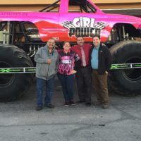 Parker With DJ Taz And Cristino In Front Of Girl Power
